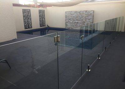 Frameless glass fence for an indoor pool in one of our client's home in Adelaide suburbs