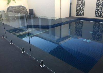 Frameless glass pool fencing done for a client in Alice Springs