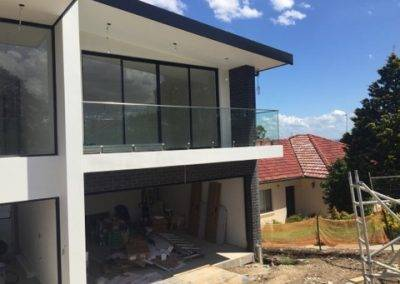 At work installing a frameless glass balustrade in this renovation project in Port Lincoln