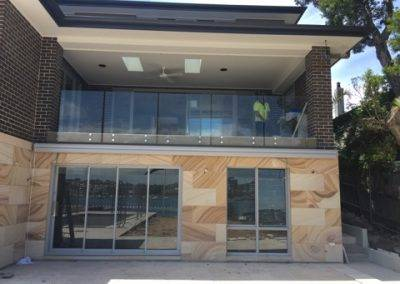 Frameless glass balustrade installation in progress in an Adelaide suburban home
