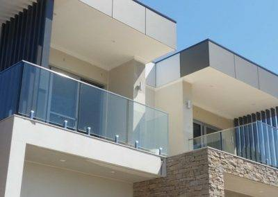 Frameless glass balustrade with superior quality stainless steel hand rails installed for a client in Adelaide suburbs