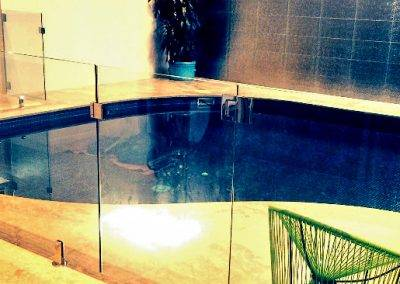Frameless glass pool (indoor) fence installation for a client in Mount Gambier