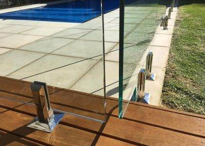 The clamps and spigots that we use to secure our 12mm high grade glass panels are tested to withstand extreme weather conditions, especially the high-salt ambience around beachy suburbs