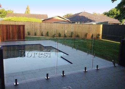 Frameless glass pool fence installed for a client in Adelaide suburbs