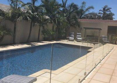 Frameless glass fence installed for a client's swimming pool in Adelaide suburbs before the visit of their grandson from interstate