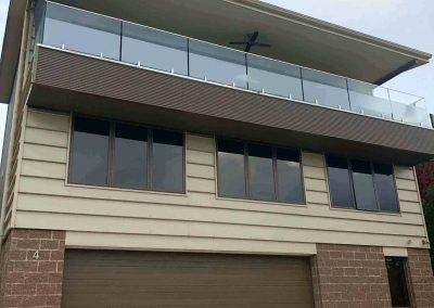 Glass Balustrading installed on a verandah in Marino