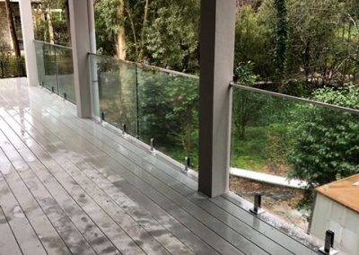 Glass balustrades installed in a suburban Adelaide home