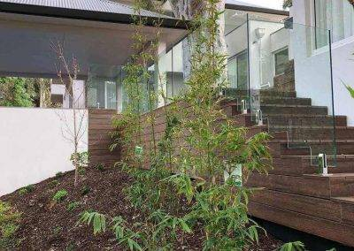 Glass balustrade installed in an outdoor entertainment decking Unley park