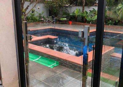Glass swimming pool fencing installed Seaford-1