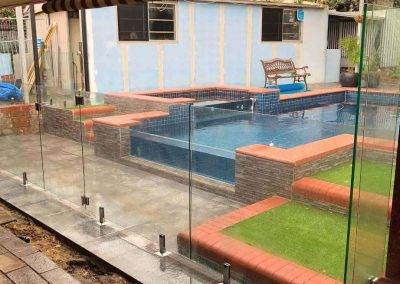 Glass swimming pool fencing installed Seaford-3