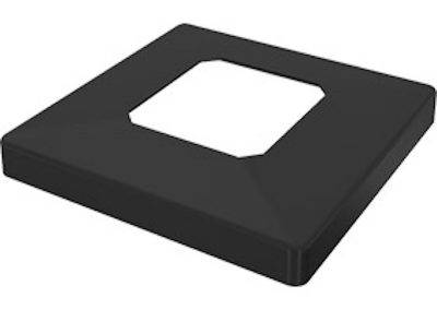 Black raised cover plate to suit core drill spigot.