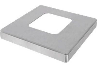 Polished cover plate to suit base mount spigot